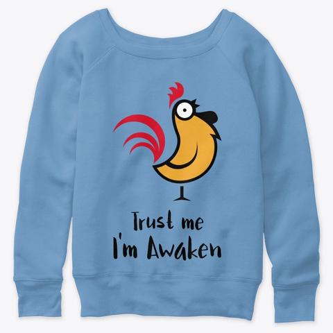 I'm Awaken Blue Triblend  T-Shirt Front