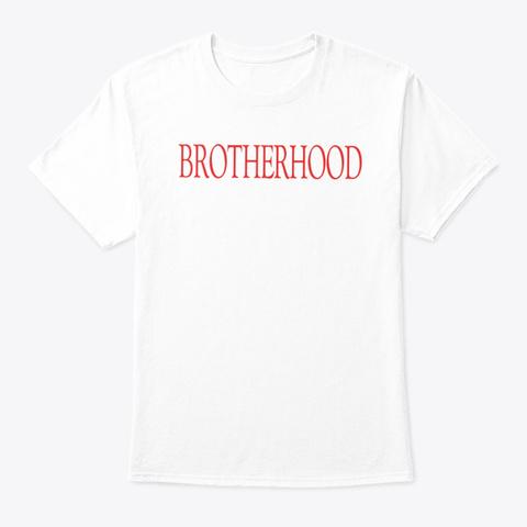 Brotherhood Red X White T Shirt  White T-Shirt Front