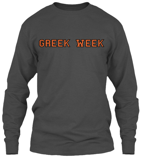 Greek Week Charcoal Lange Mouwen T-Shirt Front