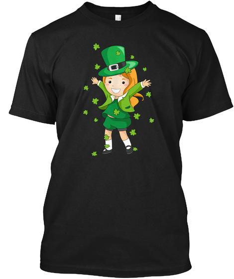 St Patricks Day Irish Princess Holiday Black T-Shirt Front