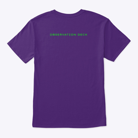 Cheddar Makes Life Better Palm Purple T-Shirt Back