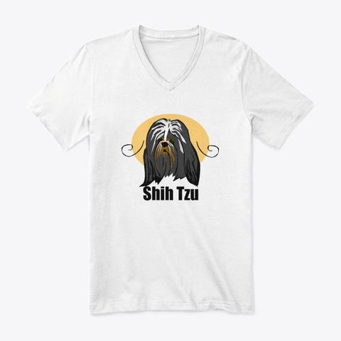 Shih Tzu White T-Shirt Front