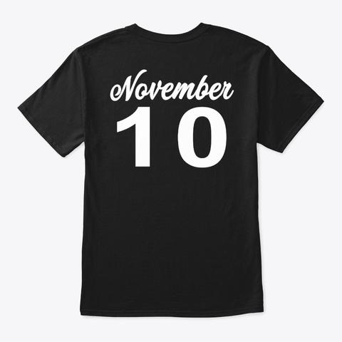 November  10   Scorpio Black T-Shirt Back