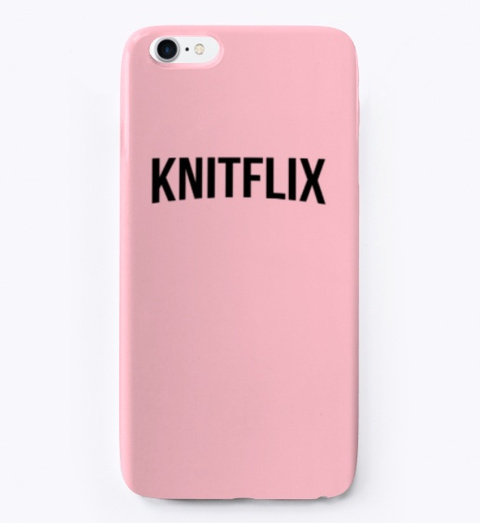 Knitflix Cover Iphone Pink T-Shirt Front