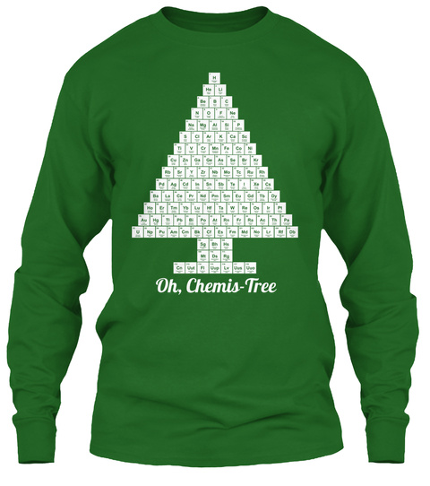 Oh, Chemis  Tree Irish Green Long Sleeve T-Shirt Front