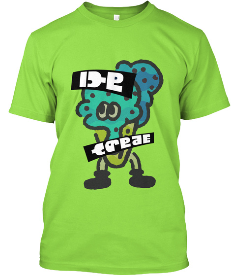 Team Ice Cream   Splatfest Shirt Lime T-Shirt Front