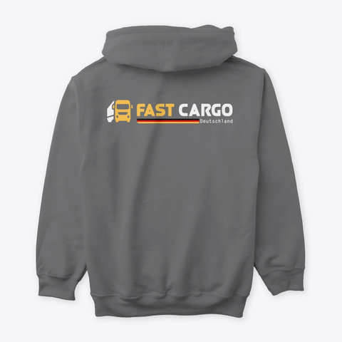 Fast Cargo Deu   Hoodie [Grey] Dark Heather T-Shirt Back