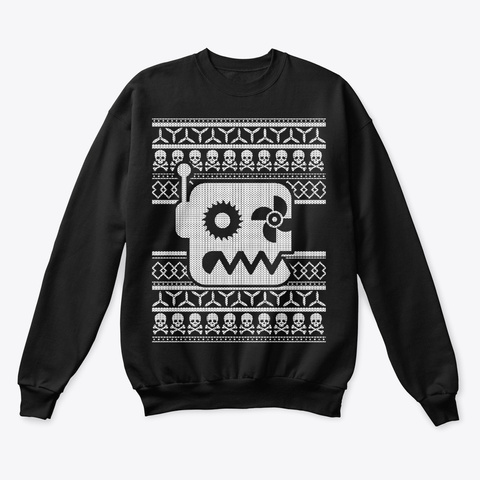 Botgrinders Ugly Ass Sweater Black T-Shirt Front