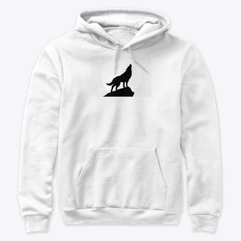 Cry Wolf Hoodie White T-Shirt Front