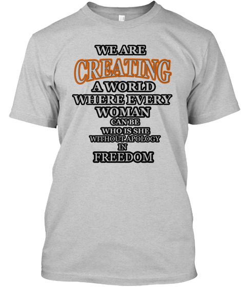 Feminism T Shirt Woman Power Feminist T  Light Steel T-Shirt Front