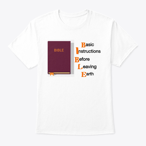 Bible White T-Shirt Front