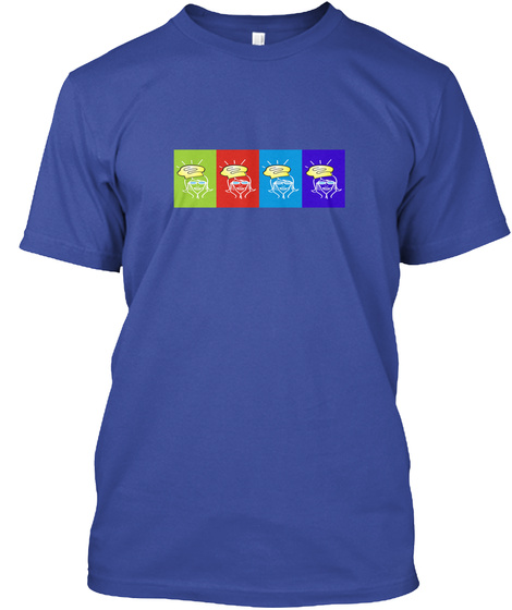 The Brainy Gourmet Deep Royal T-Shirt Front