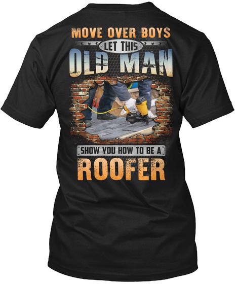 Awesome Roofer Black T-Shirt Back