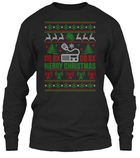 Cq Dx Cq Dx Merry Christmas Black T-Shirt Front