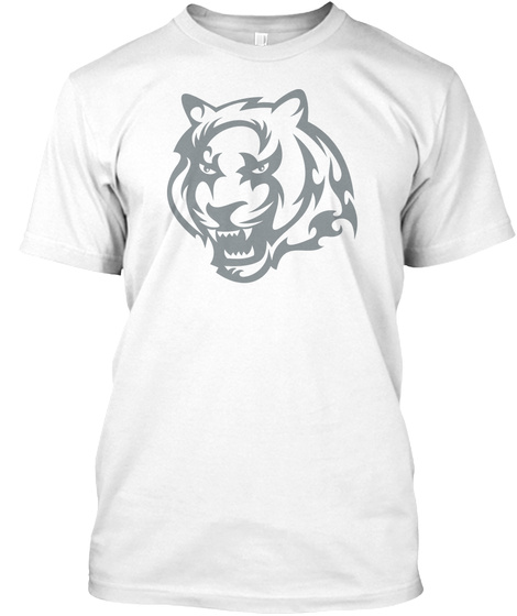Best Animals Tattoo T Shirt Tiger 2 White T-Shirt Front