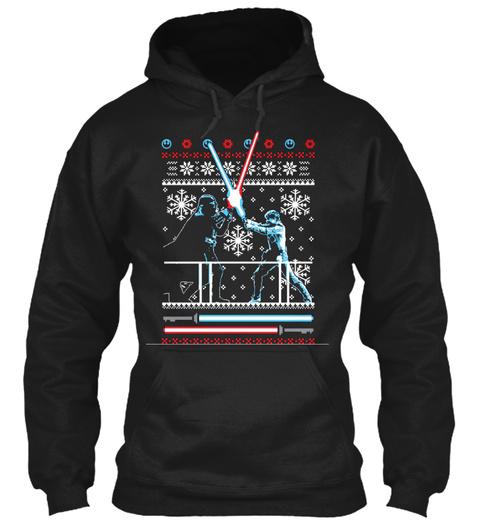 Wars Christmas Duel Shirt Black T-Shirt Front