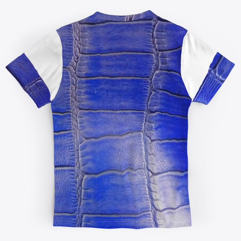 Blue Leather Pattern  Standard T-Shirt Back