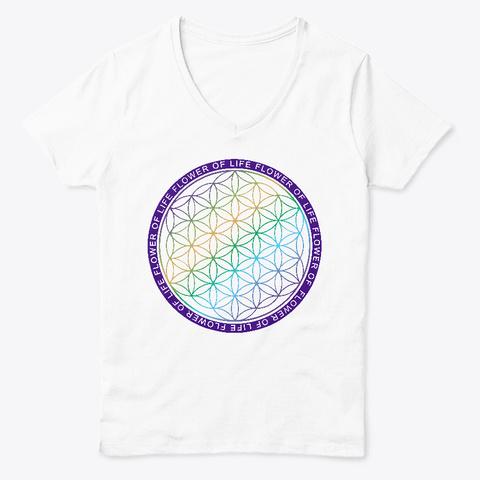 Flower Of Life White  T-Shirt Front