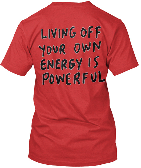 Energy (Positive) Red T-Shirt Back