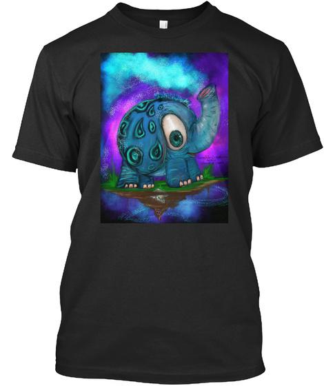Ellie For Pops Black T-Shirt Front
