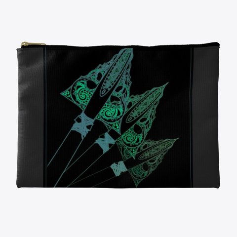 Arrowhead Black Black T-Shirt Front
