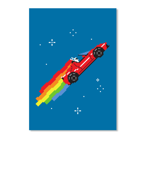 Nyan Roadster Sticker [Usa] #Sfsf Royal Blue Sticker Front