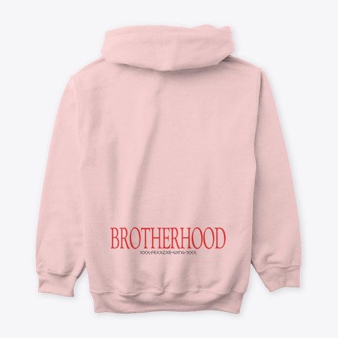 I Am My Brother's Keeper Hoodie Light Pink T-Shirt Back