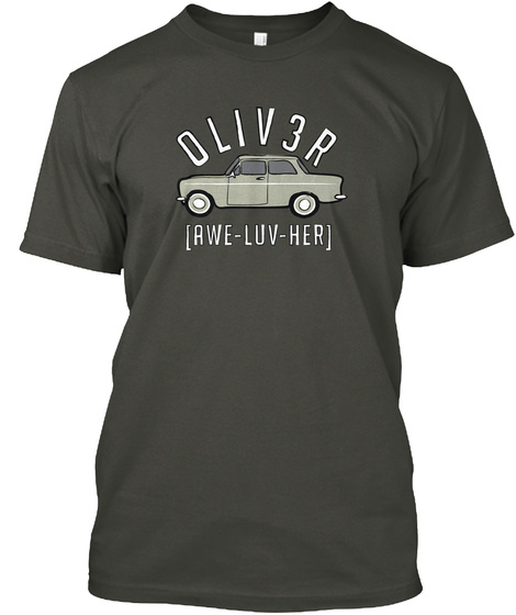 Oliver [Awe Luv Her] Smoke Gray T-Shirt Front