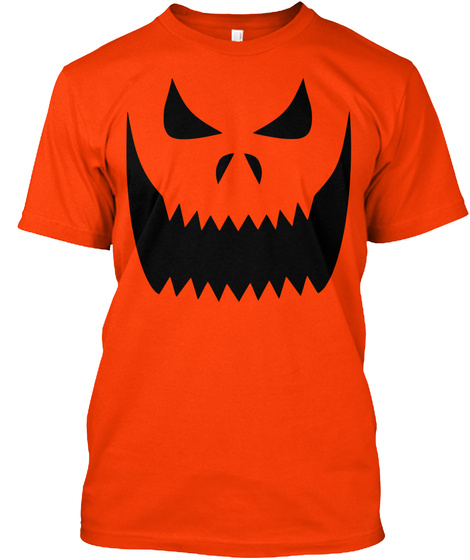 Big Smile Pumpkin Tee! Orange T-Shirt Front