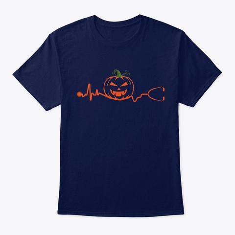 Nurse Halloween Nurse Navy T-Shirt Front