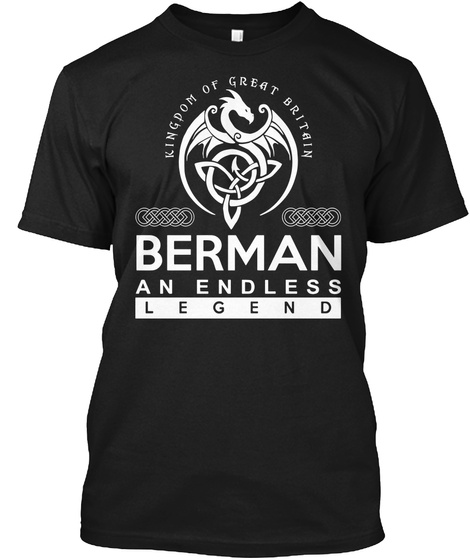 Berman An Endless Legend Black T-Shirt Front