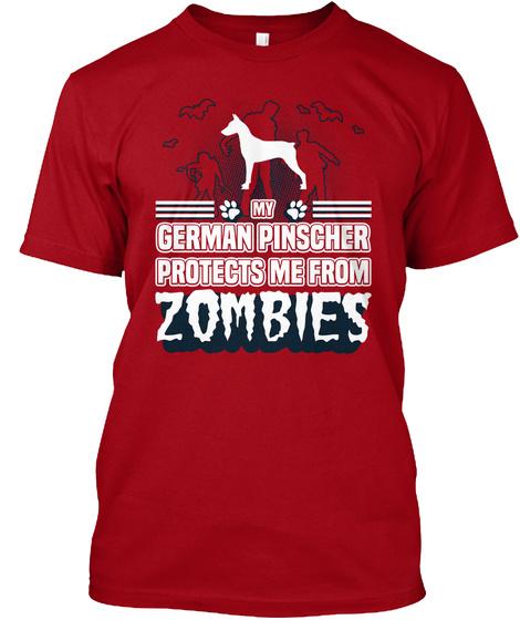 German Pinscher Deep Red T-Shirt Front