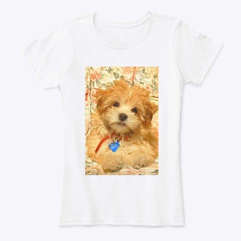 Muffy The Puppy Dog White Women's T-Shirt Front