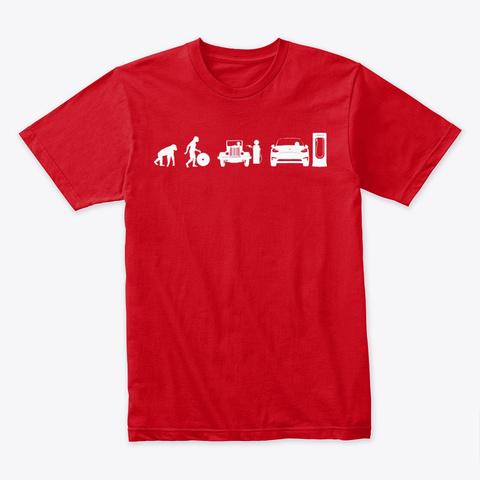 Modèle Y évoluons Par Mad Hungarian Red T-Shirt Front