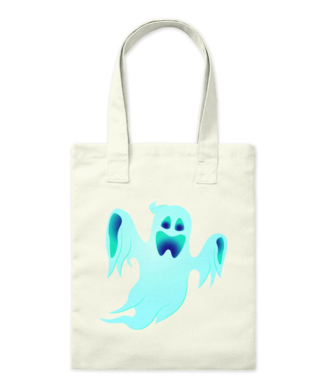 Halloween Ghost Tote Bag Natural T-Shirt Front