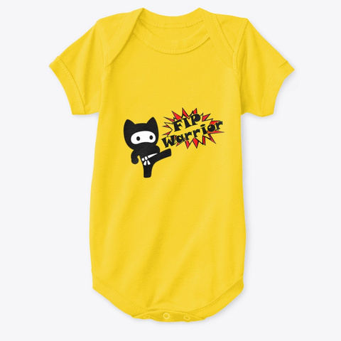 Fip Warriors Yellow  T-Shirt Front
