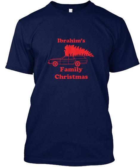 Ibrahim The Ibrahim Family Christmas Navy T-Shirt Front