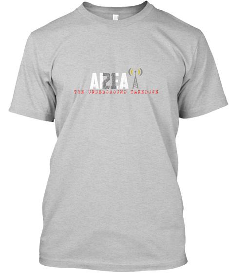 Area 21 Podcast Logo Light Steel T-Shirt Front