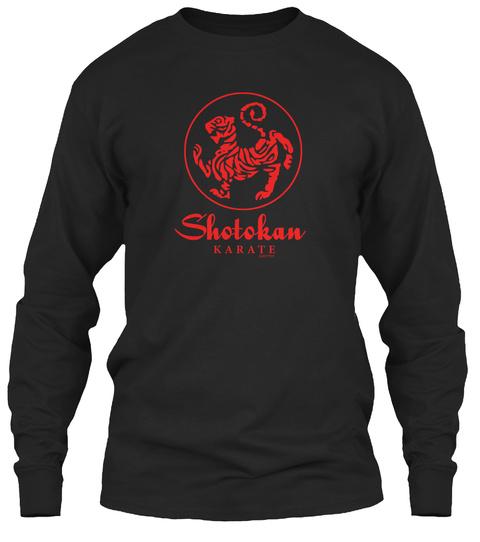 Shotokan Karate Black T-Shirt Front