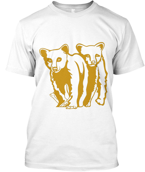 Bären Freunde Shirt Ellesson White T-Shirt Front