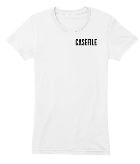 Casefile White Women's T-Shirt Front