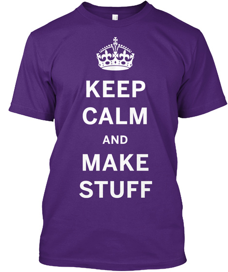 Som Kc Make Stuff T Shirt Purple T-Shirt Front