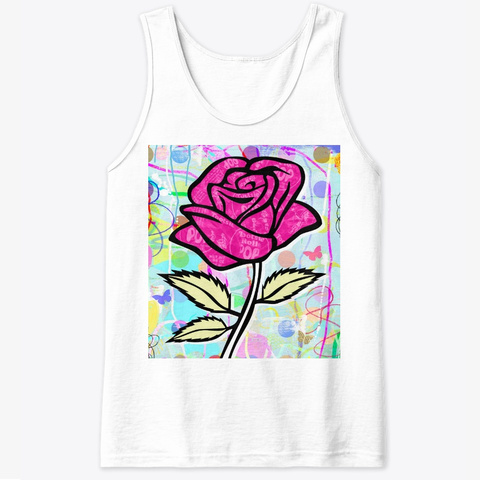 Csi8 Pop Art Rose Collection  White T-Shirt Front