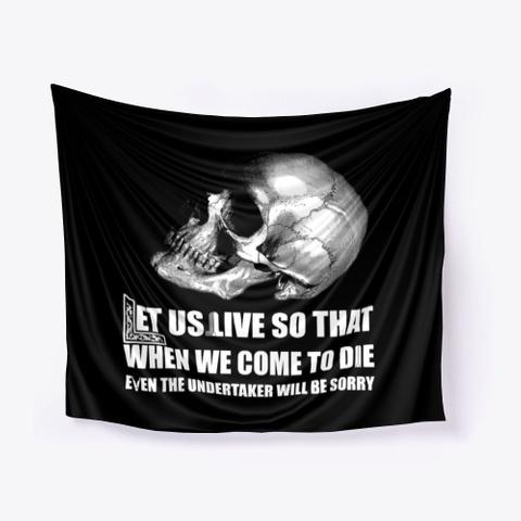 Memento Mori Masonic Tapestry Black T-Shirt Front