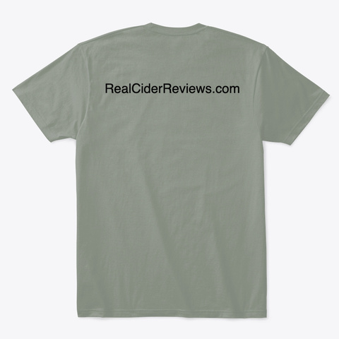 Real Cider Reviews Logo Grey T-Shirt Back