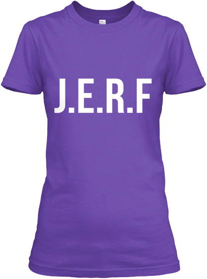 J.E.R.F Purple Rush T-Shirt Front