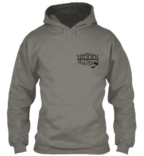 Hidden Wings Charcoal T-Shirt Front
