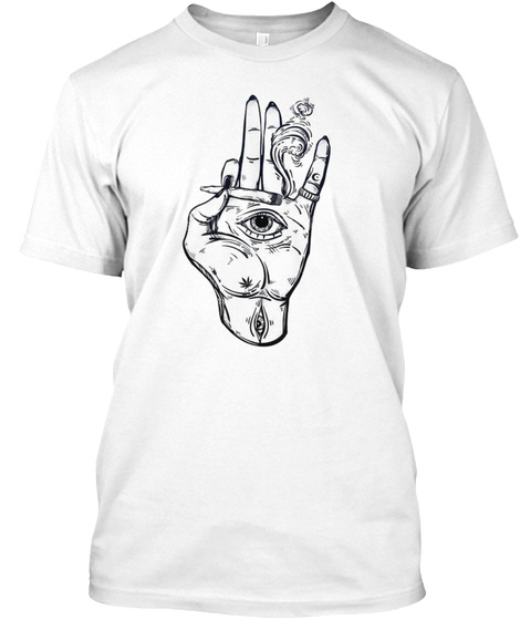 In The Eye Of The Hand.. White T-Shirt Front