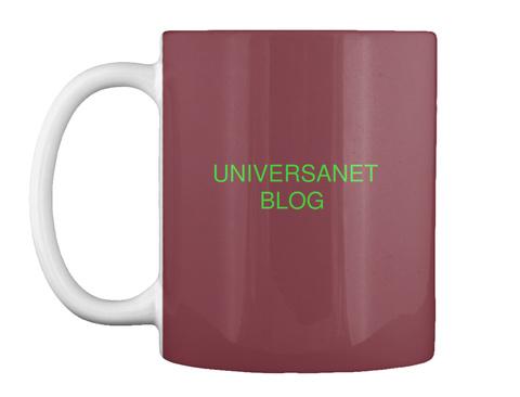 Universanet Blog Maroon Mug Front