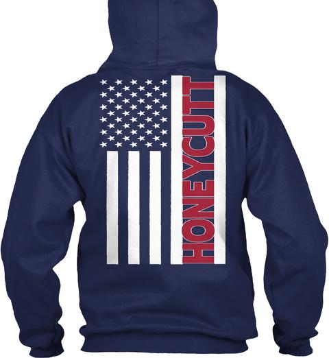 Honeycutt Navy T-Shirt Back